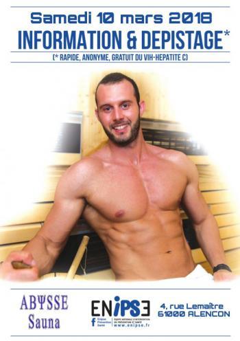 Sauna Club Abysse Alençon - Journée gay : TROD par ENIPS - 2018-03-10T14:00:00 - 2018-03-10T19:00:00