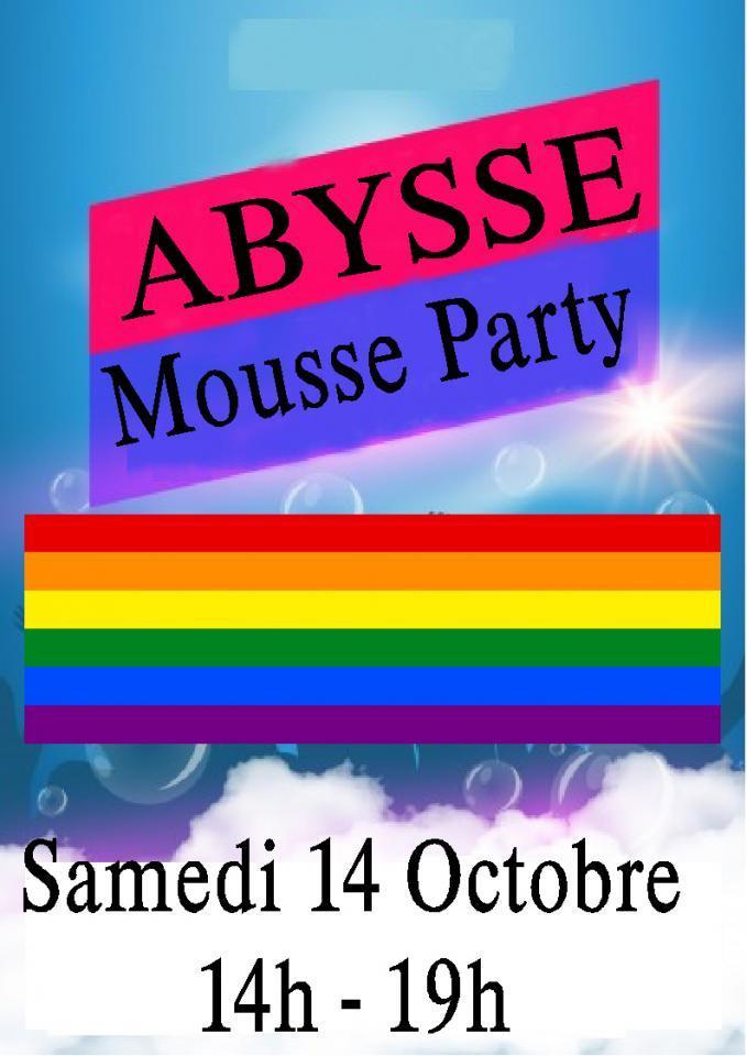 Sauna Club Abysse Alençon - Journée gay : mousse party - 2017-10-14T14:00:00 - 2017-10-14T19:00:00