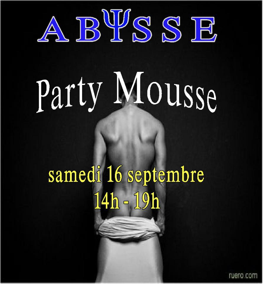 Sauna Club Abysse Alençon - Gay : Party Mousse - 2017-09-16T14:00:00 - 2017-09-16T19:00:00