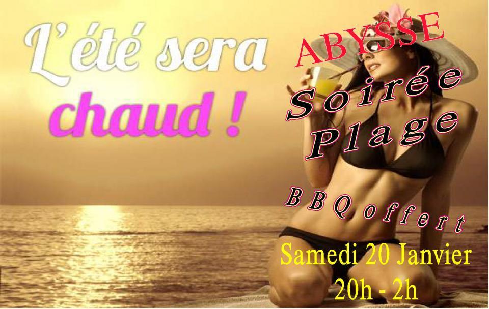Sauna Club Abysse Alençon - Soirée mixte : SOIREE PLAGE - 2018-01-20T20:00:00 - 2018-01-21T02:00:00