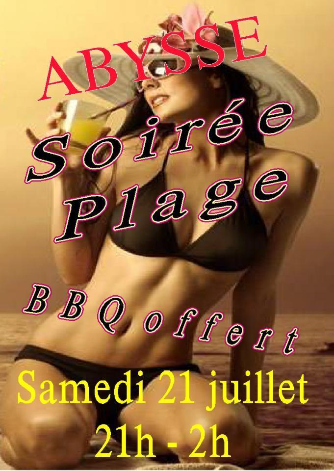 Sauna Club Abysse Alençon - Soirée mixte : Soirée plage  - 2018-07-21T21:00:00 - 2018-07-22T02:00:00